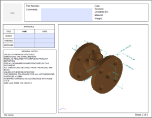 SOLIDWORKS MBD 成果物イメージ