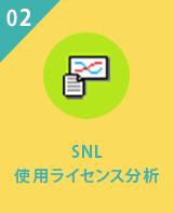 SNL使用ライセンス分析